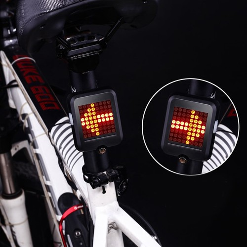 USB Rechargeable Bike Tail Light Smart Bicycle Turn Signal Lights