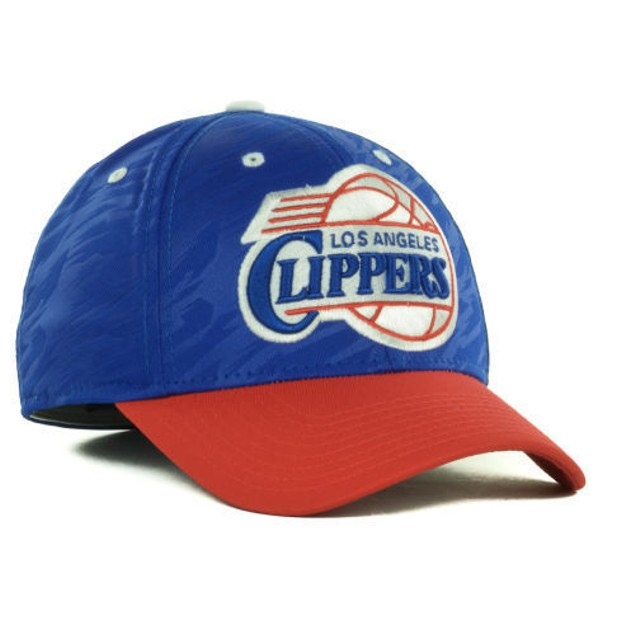 "Los Angeles Clippers NBA Adidas ""Courtside 2 Tone"" Stretch Fitted Hat"