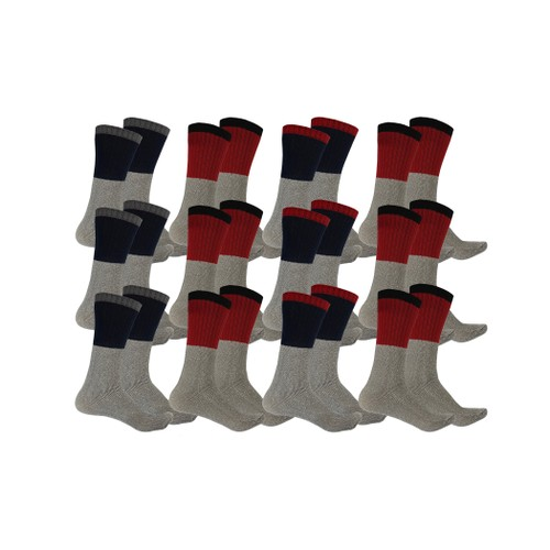 12-Pack Men's Thermal Insulated Lounge Socks