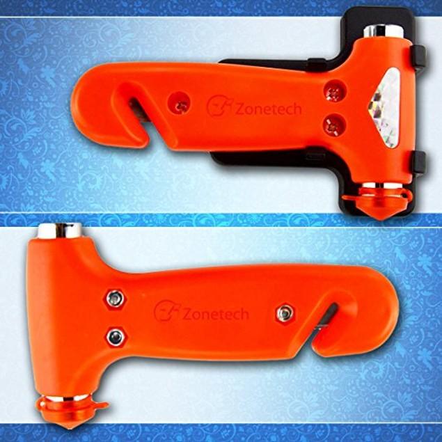 Zone Tech 2x Car Window Seatbelt Safety Emergency Hammer Cutter Tool