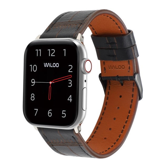 Waloo Bamboo Textured Leather Band for Apple Watch For All Series