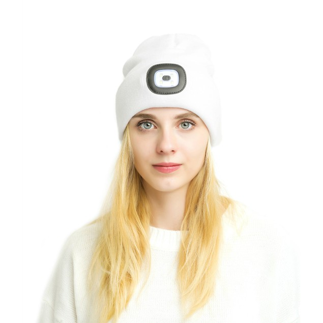 LED Beanie With Built-in Rechargeable USB