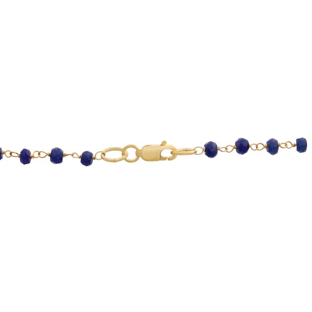14k Gold 58ct Sapphire Y Bar Strand Necklace, 36""