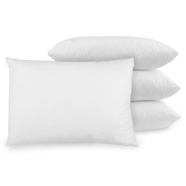 2-Pack Beauty Sleep 100% Cotton White Duck Feather Pillows