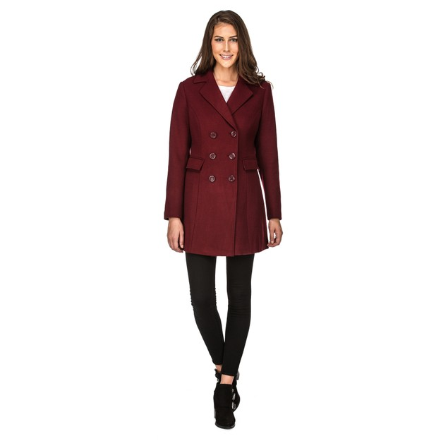 Haute Edition Women's Double Breasted Wool Blend Coats