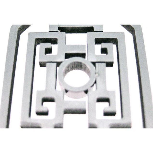 Stainless Steel Open Work Geometric Pattern Mens Individual Pendants