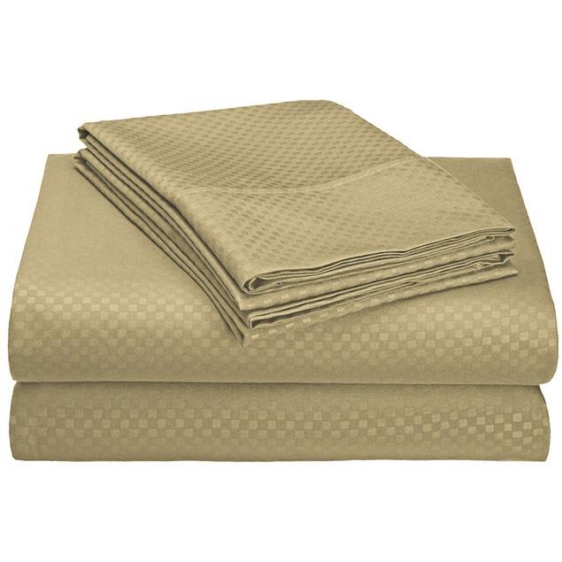 4-Piece Ultra-Soft Double Brushed Wrinkle Free Embossed Sheet Set
