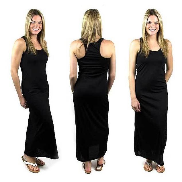 Solid Sexy Racerback Slim-Fit Maxi Dress
