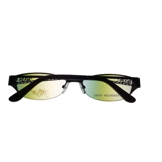 Apple Bottoms Womens Opthalmic Eyeglass Oval Rimless Metal 700 1 Brown