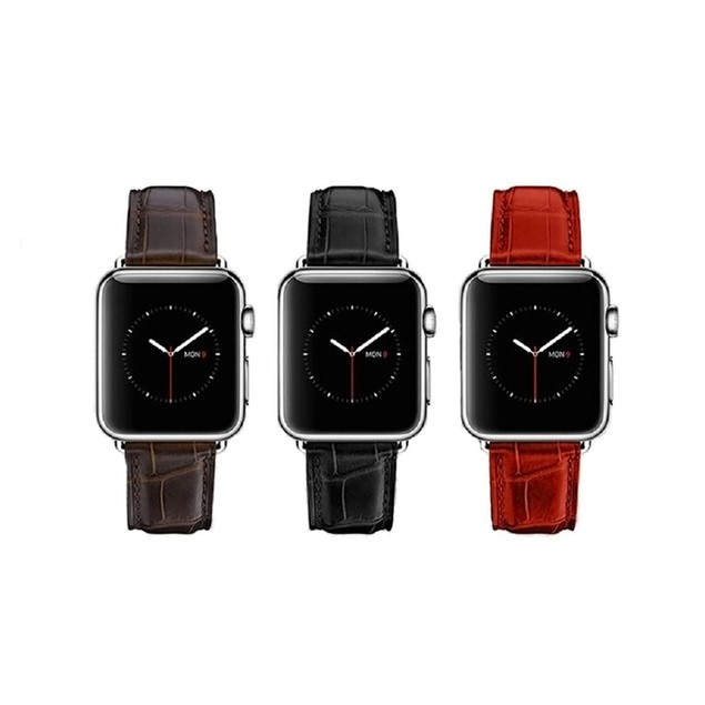 Waloo Crocodile Leather Print Replacement Buckle Band All Series
