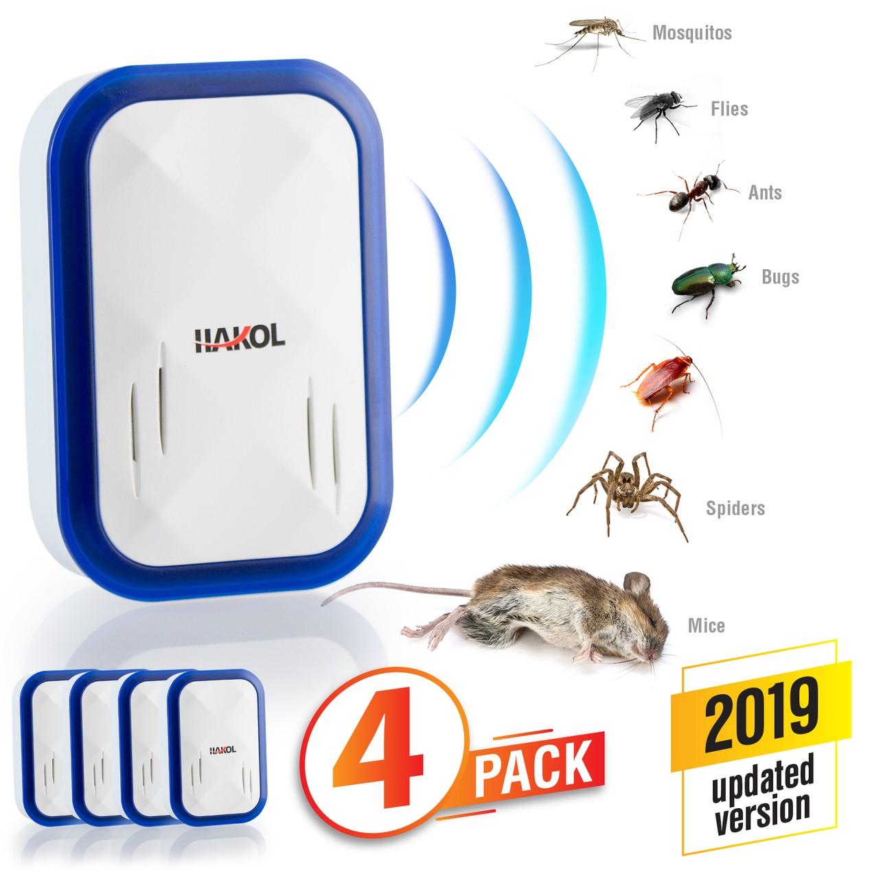 4-Pack Ultrasonic Pest Repeller Plug-in - Brand New 2019
