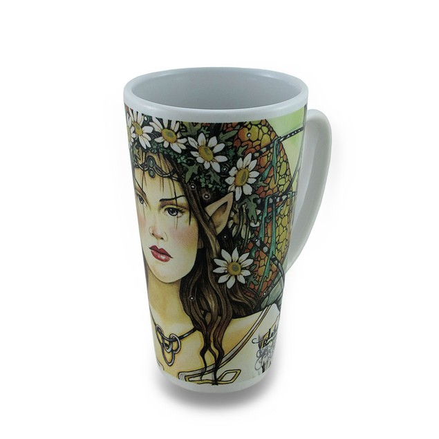 Linda Ravenscroft Eclipse Design Tall Ceramic Novelty Coffee Mugs