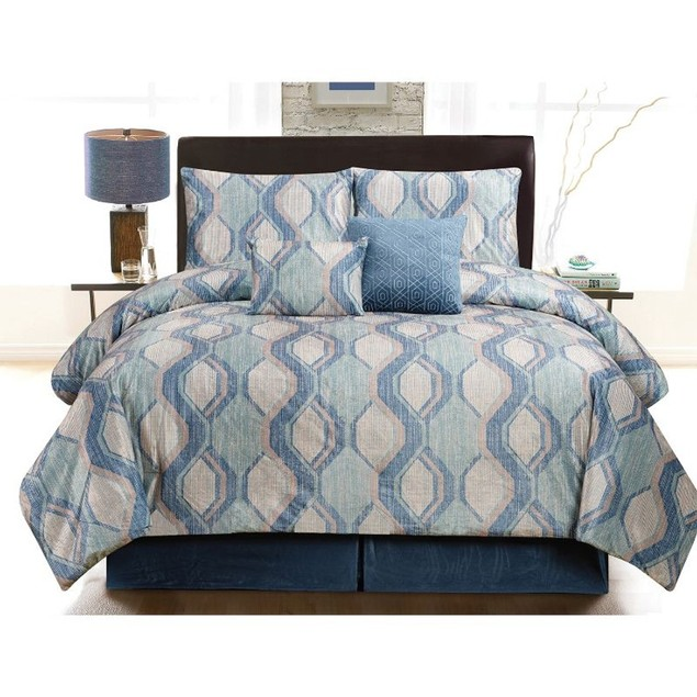 Ruthy's Textile 6-Piece Luxury Comforter Bed-In-A-Bag Set