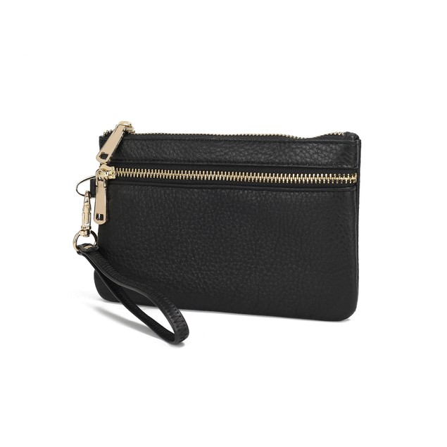 MKF Collection Shari Genuine Leather Wristlet by Mia K