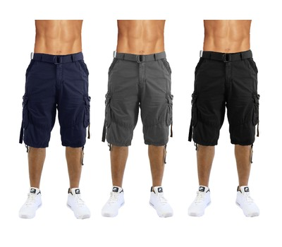 Men's Distressed Vintage Belted Cargo Utility Shorts- Multiple Pack Sizes Was: $79.99 Now: $22.99.