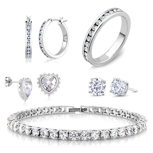 5-Piece Cubic Zirconia Best Selling Jewelry Set