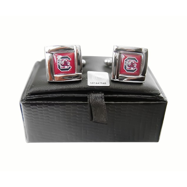NCAA Sports Team Logo Square Cufflinks Gift Box Set