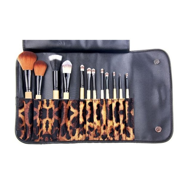 Makeup Brush Set with Case (12-Piece)
