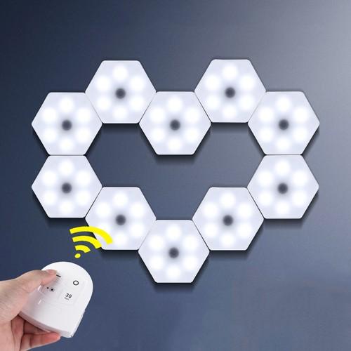 Wireless Modular Hexagonal LED Touch Light (6-Pack)