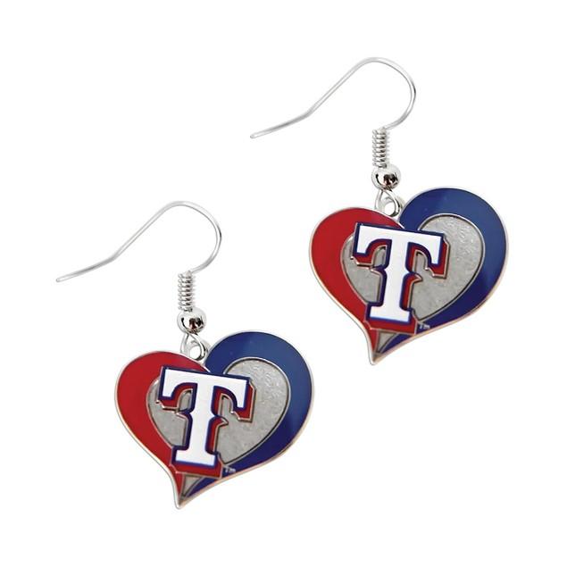 MLB Sports Team Swirl Heart Shape Dangle Logo Earring Set Charm Gift