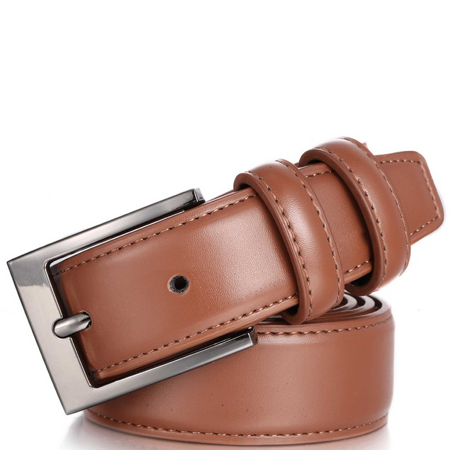 2-Pack Men's Dual Loop Genuine Leather Belt