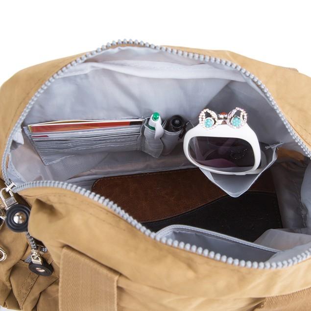 Suvelle Nylon Water-Resistant Go-Go Crossbody Bag