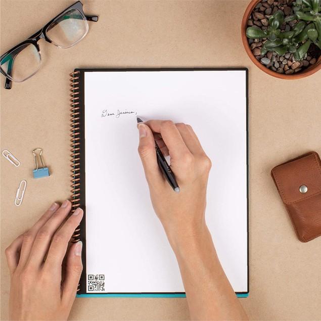 Rocketbook Core Smart Reusable Lined Notebook Bundle (3 Pens, Microfiber Cloth)