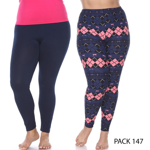 2-Pack Soft and Comfy Holiday Leggings - 18 Prints (S-3X)