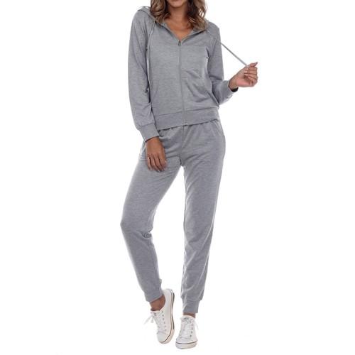 Women's Jersey-Knit Hoodie & Jogger 2-Piece Set