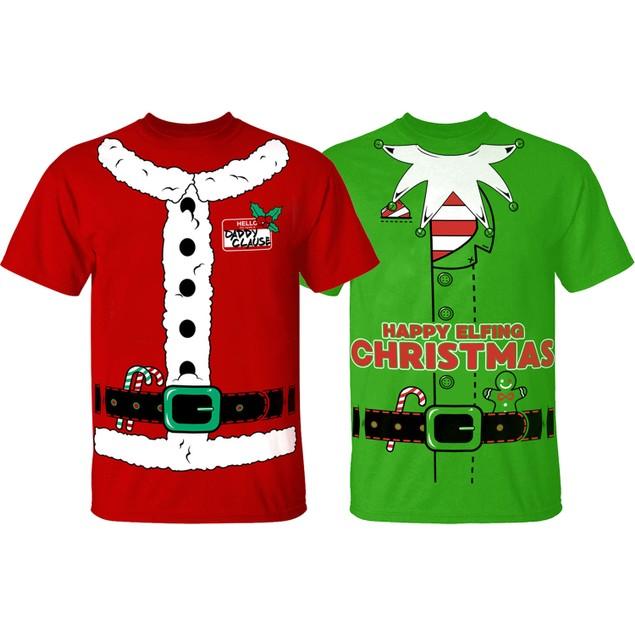 Men's Funny Christmas Suit T-Shirts