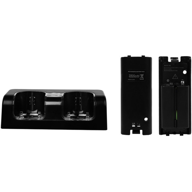 GPCT Wii Remote Dual Charger Dock With 2 Rechargeable Batteries