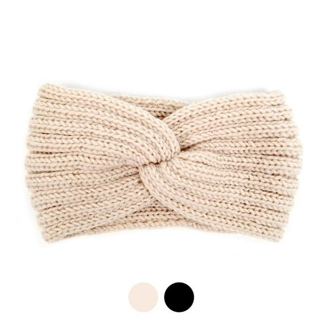2-Pack Women's Knit Winter Twisted Headband Ear Warmer