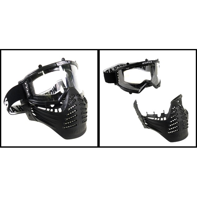 World Tech Arms Survivor Full Face Airsoft Mask with Goggles And Visor