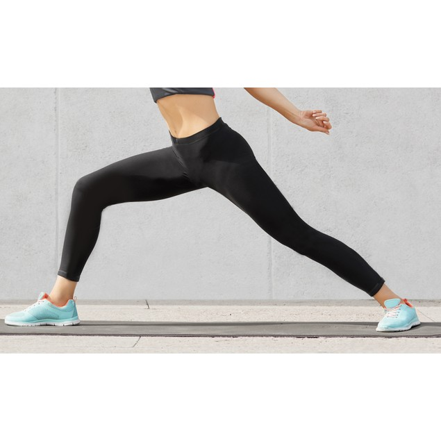 6-Pack Black Fleece-Lined Seamless Leggings