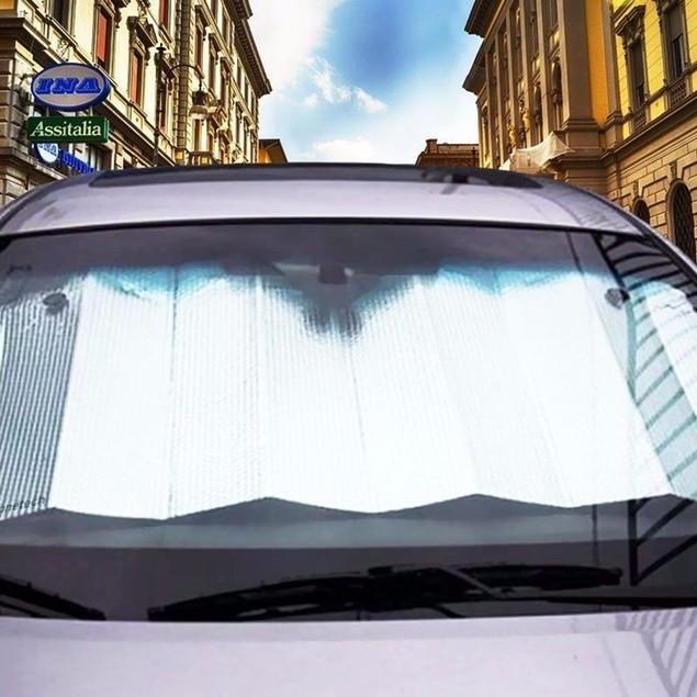 """Zone Tech 28x54"""" Car Windshield Sun Shade Aluminum Reflective Silver"""
