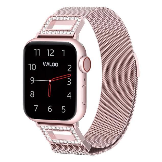 Waloo Diamond Milanese-Loop Stainless Steel Band for Apple Watch Series