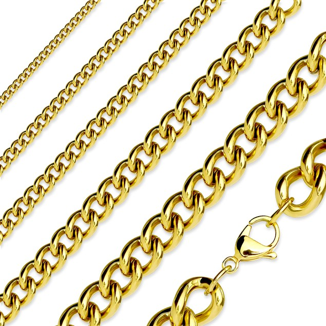 316L Stainless Steel Cable Chains - Assorted Colors & Sizes