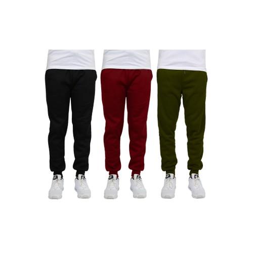 3-Pack Men's Fleece Jogger Sweatpants (S-2XL)- Multiple Styles
