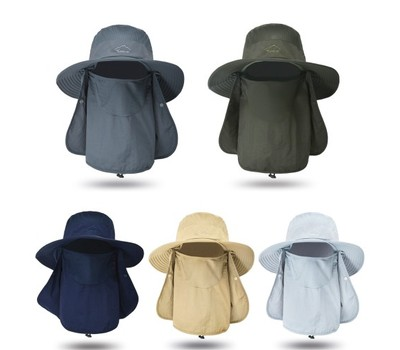 Sun Protection Cap Wide Brim Fishing Hat with Neck Flap Summer Outdoor Was: $33.99 Now: $14.99