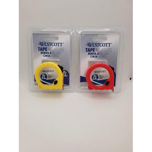 WestScott Tape Measure 12 FT (3,6M) Color Random