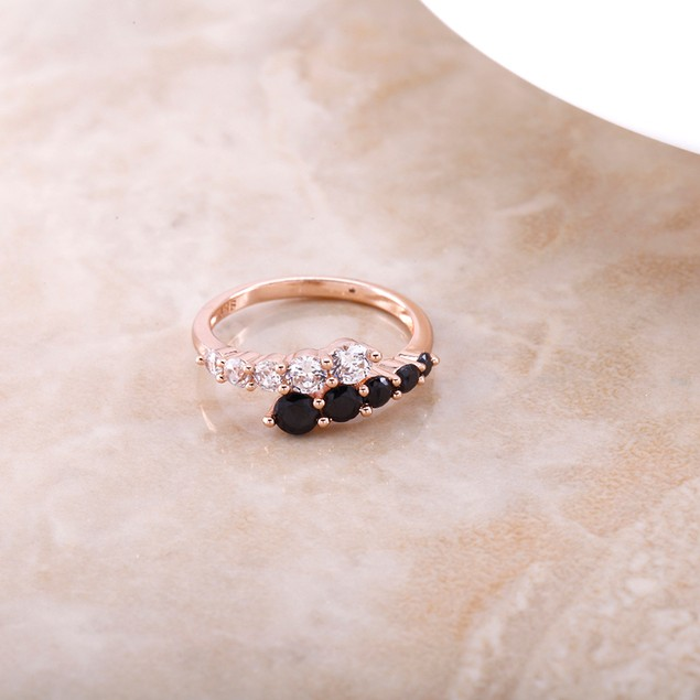 Cubic Zirconia Rose Gold Fancy Ring