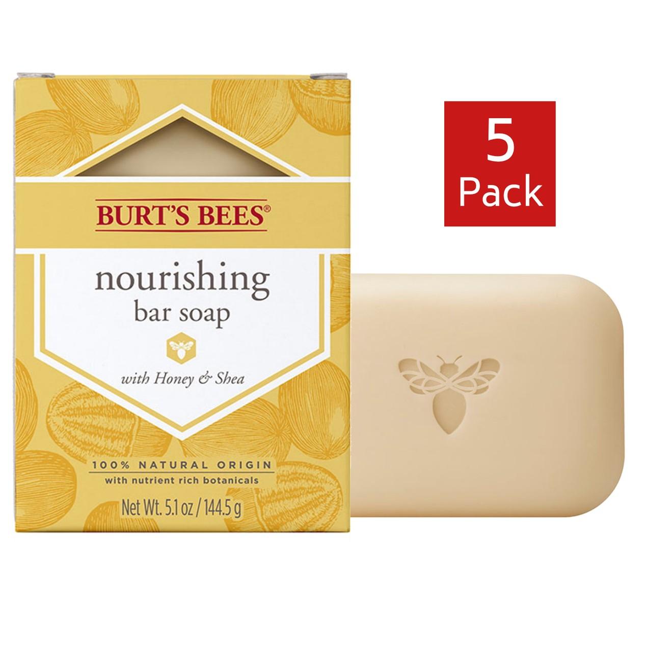 5-Pack Burt's Bees Nourishing Bar Soap with Honey & Shea