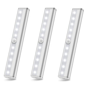 3-Pack 10 Led Motion Sensor Stick On Light Bars