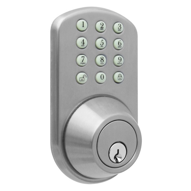MiLocks® Keyless Entry Touchpad Deadbolt Satin Nickel (TF-02SN)
