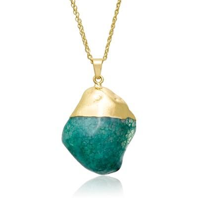 30 Carat Natural Green Quartz Necklace, 30 Inches