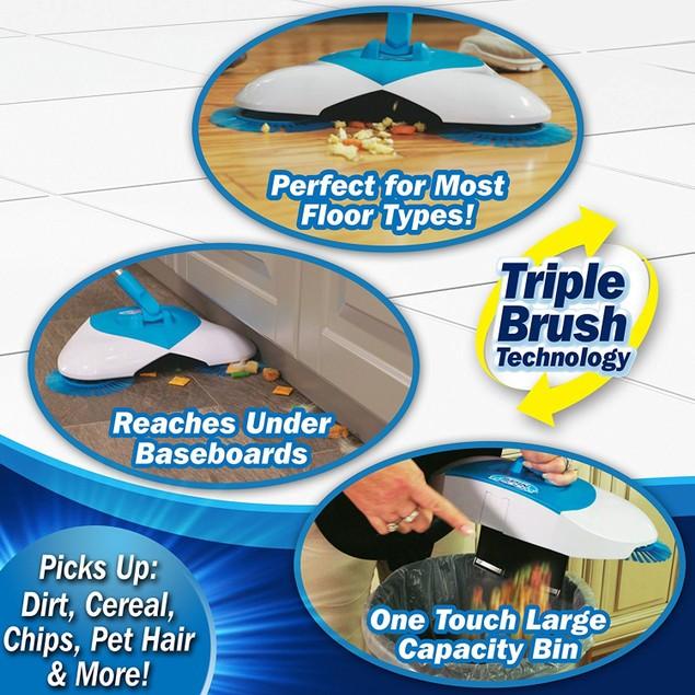 Lightweight Original Cordless Hurricane Spin Broom