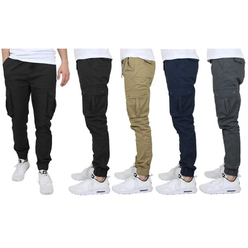 2-Pack Men's Slim-Fit Classic Cotton Cargo Jogger (Sizes, S to 2XL)