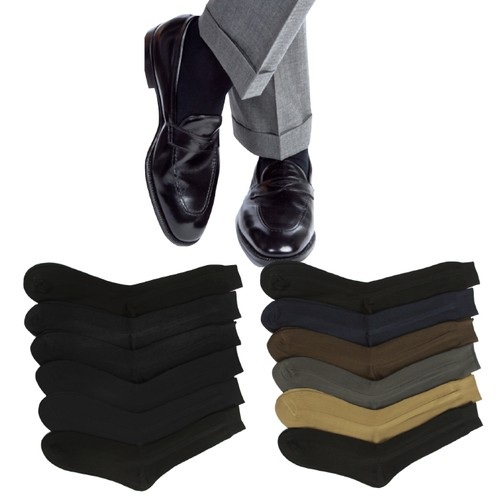 12 Pairs of Men's Classic Dress Socks