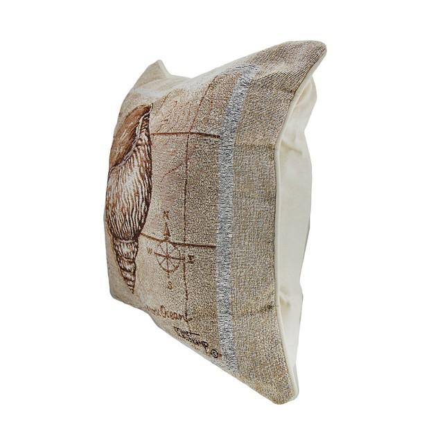 Sea Treasures Triton Shell Tapestry Throw Pillow Throw Pillows