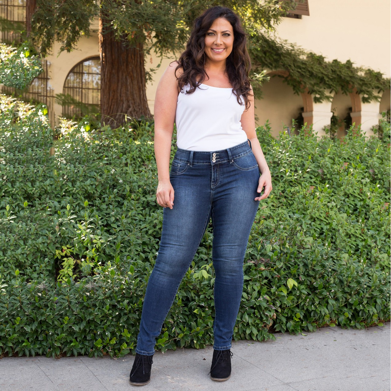 7bdc793e9a White Mark Plus Size Super Stretch Denim Jeans - Tanga